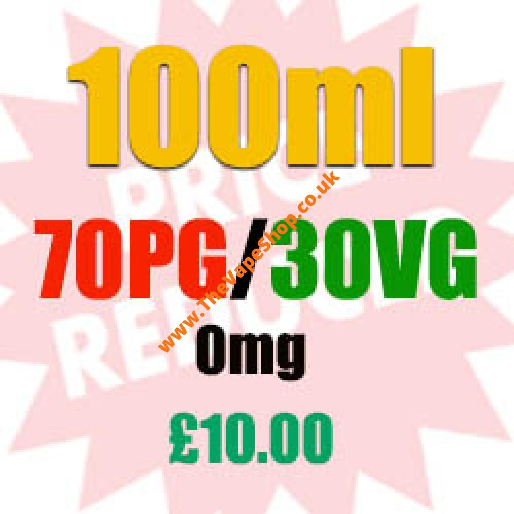 100ml 0mg 70PG/30VG - £10.00