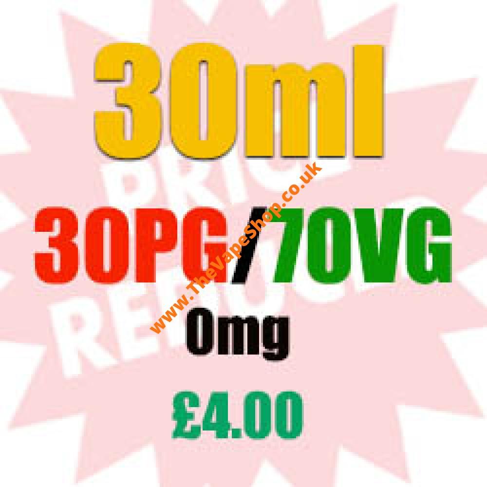 30ml 0mg 30PG/70VG - £4.00's