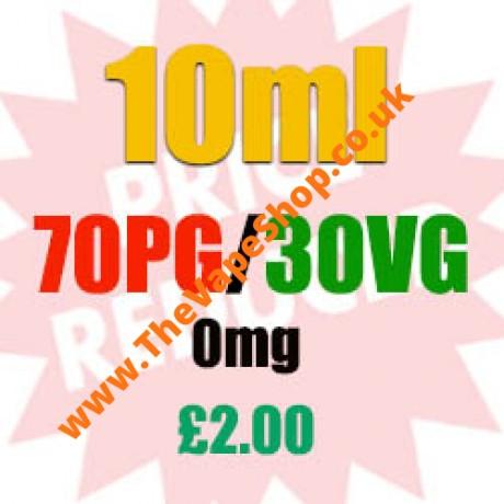 10ml 0mg 70PG/30VG - £2.00