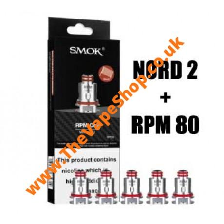 SMOK Nord 2 & RPM 80W Mesh Coils