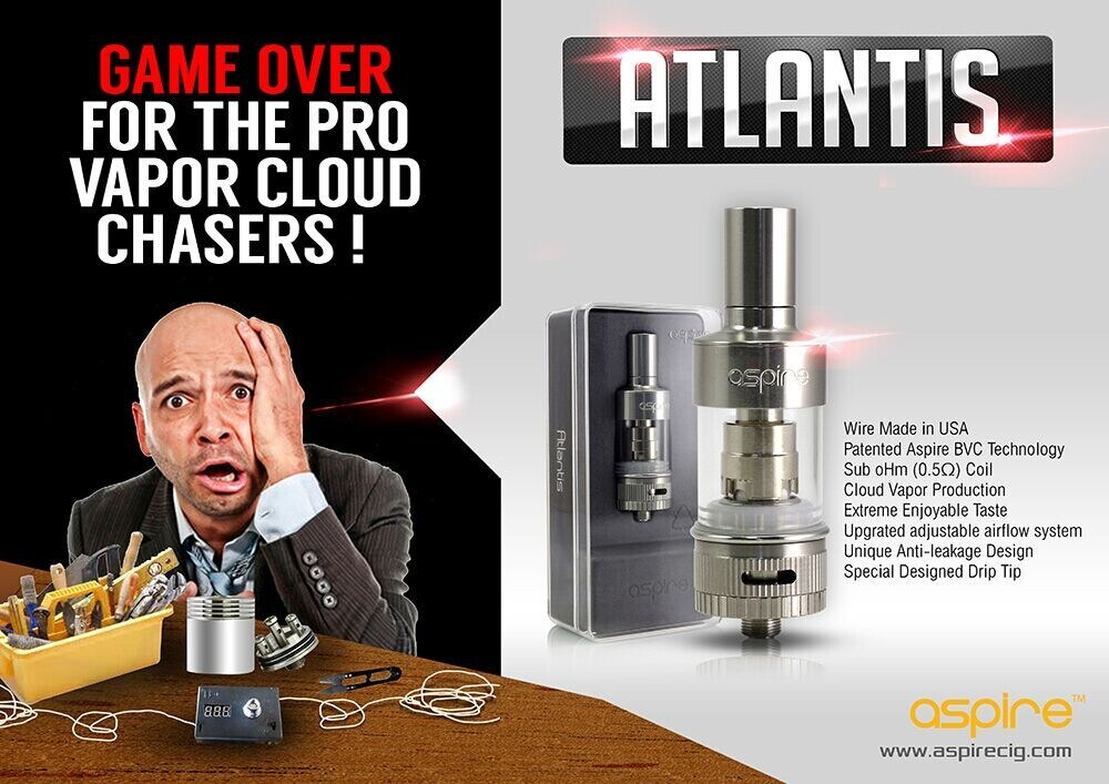 Aspire Atlantis Sub Ohm Coil Tank Review
