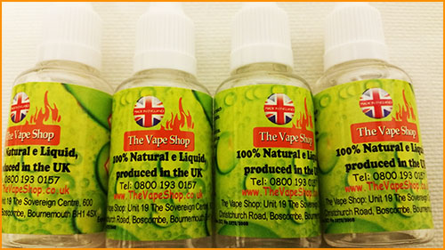 UK produced e liquid made from 100% natural ingredients made by The Vape  Shop. Our ingredients are UK sourced and are 100% pure. We do not import or  promote ...