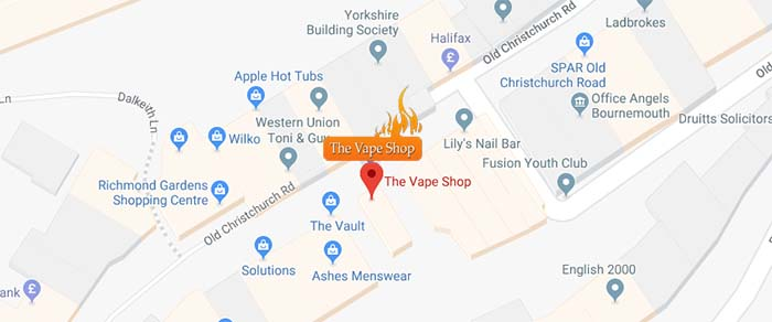 Map Bournemouth Vape Store